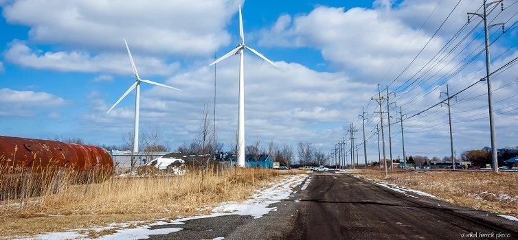 انرژی بادی پراکنده متوسط