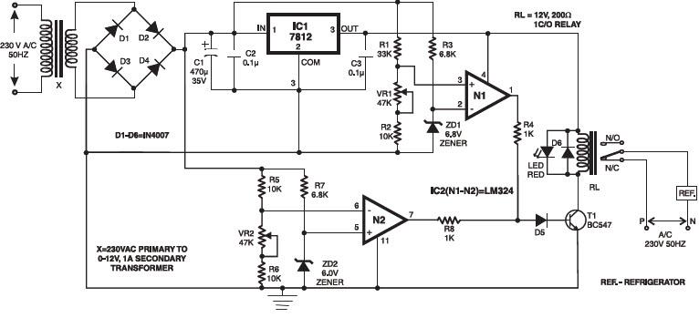 مدار حفاظت اضافه ولتاژ با استفاده از مقایسه گر